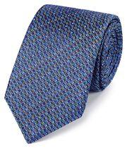 Blue multi silk Jermyn street design English luxury tie