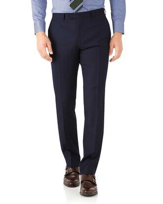 Navy herringbone classic fit Italian suit pants