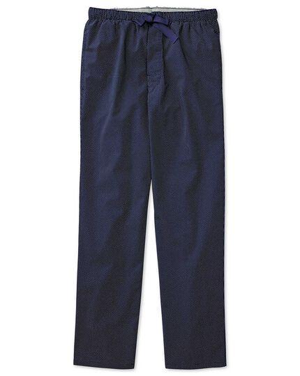Navy dot cotton pyjama pants