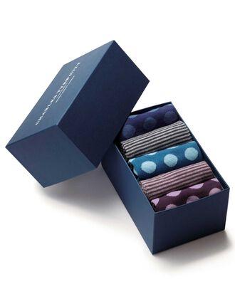 Multi spot and stripe sock gift box