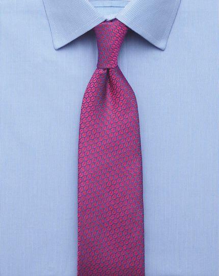 Slim Fit Hemd in Himmelblau mit feinen Streifen
