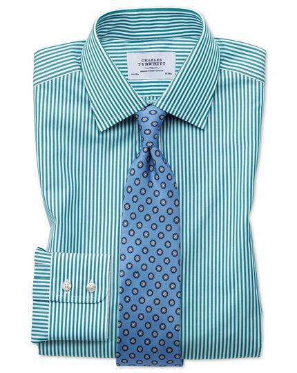 Classic fit Bengal stripe green shirt