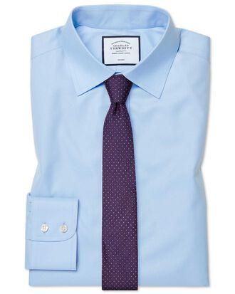 Chemise bleu ciel en twill extra slim fit sans repassage