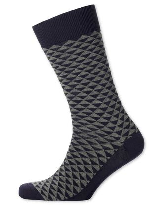 Grey triangle socks