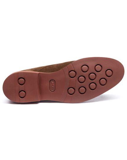 Brown Truscott suede Plain Derby shoe