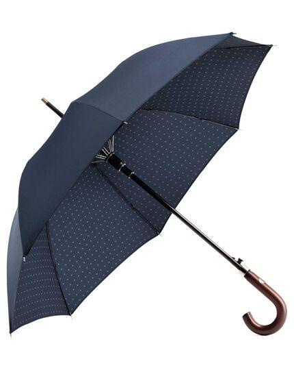 Klassischer Regenschirm mit Tupfen-Print-Muster