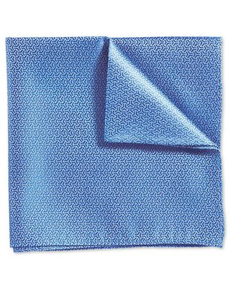 Sky classic arrow semi plain pocket square