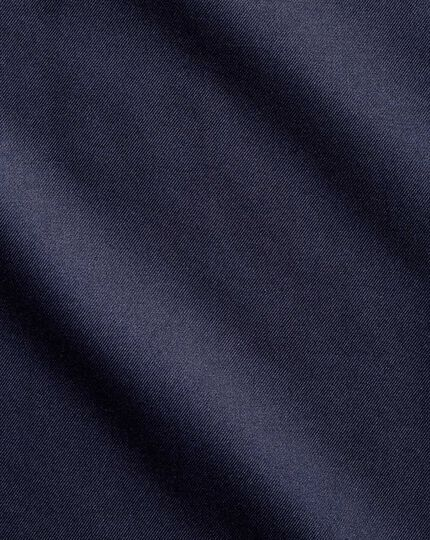 Classic fit non-iron twill navy blue shirt