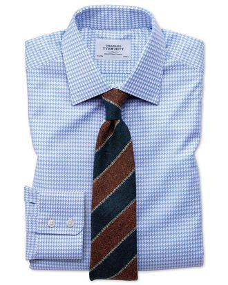 Chemise bleu ciel slim fit avec grand motif pied-de-poule