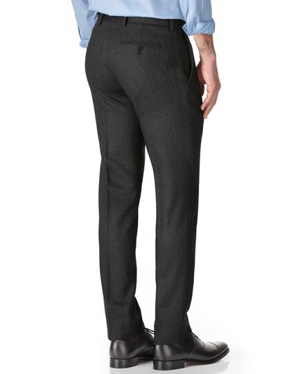 Slim Fit Saxony-Businessanzug Hose in Grau