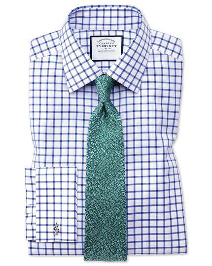 Teal silk micro leaf classic tie