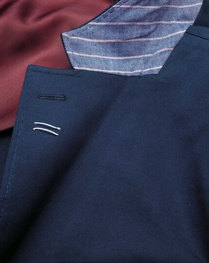 Slim Fit Businessanzug Sakko aus italienischer Baumwolle in Marineblau