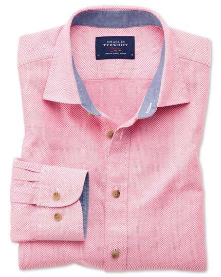 Classic Fit Hemd in gewaschenem Rosa mit Struktur