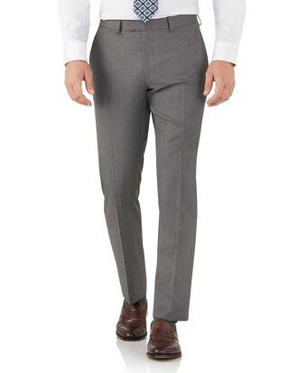 Grey slim fit Italian suit pants