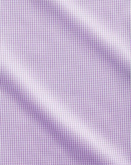 Extra slim fit cutaway non-iron puppytooth lilac shirt