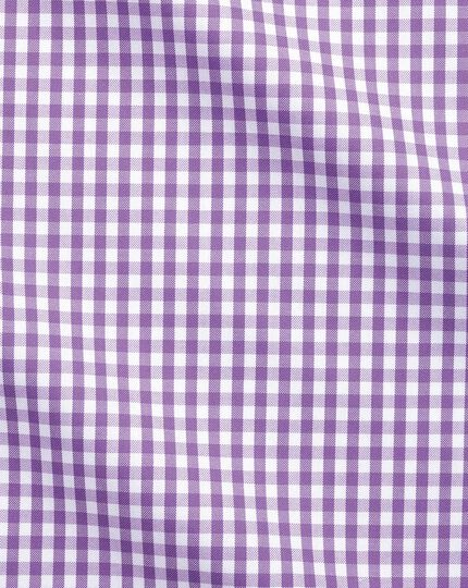 Extra slim fit button-down business casual non-iron lilac shirt