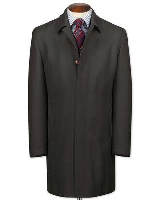 Charcoal herringbone wool car coat