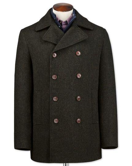 Dark green wool pea coat