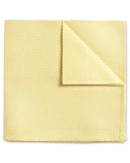 Light yellow plain classic pocket square