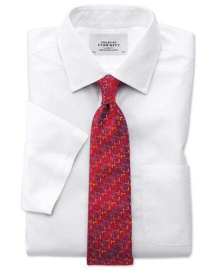Chemise blanche en popeline sans repassage extra slim fit avec manches courtes