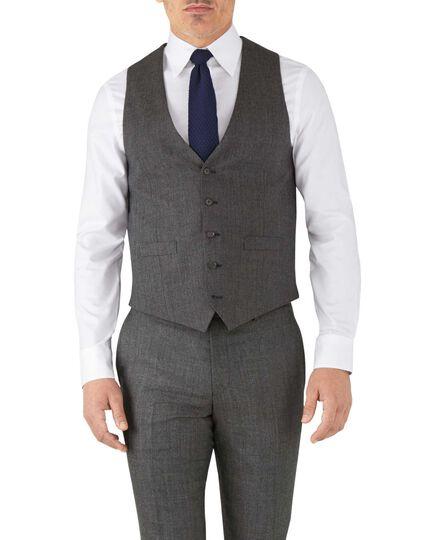 Verstellbare Business Anzug Weste aus Flanell in Silber