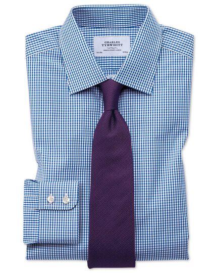 Chemise vichy bleu marine coupe droite