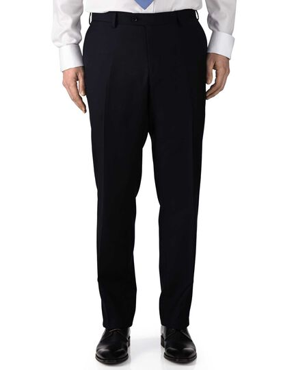 Navy extra slim fit twill business suit pants