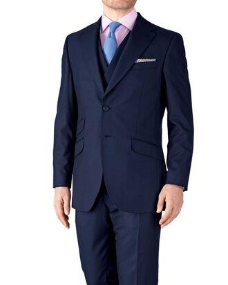 Navy slim fit British Panama luxury suit jacket