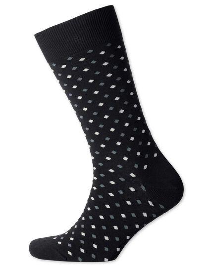 Black small spot socks