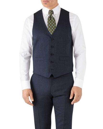 Airforce blue adjustable fit hairline business suit vest