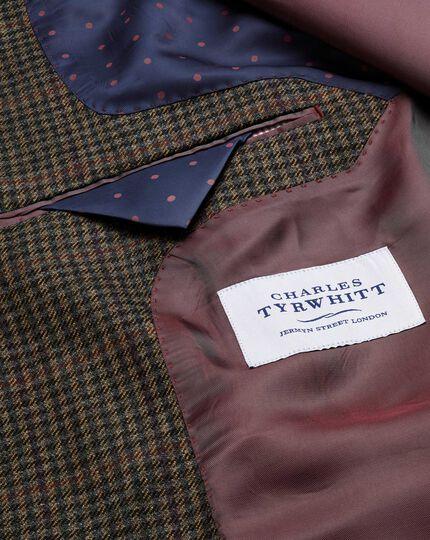 Classic fit brown semi-plain lambswool jacket