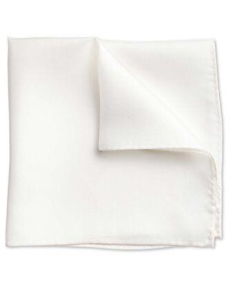 Pochette de costume de soirée blanche en soie