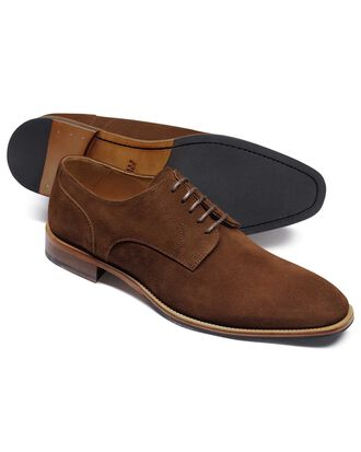 Brown suede Derby shoe