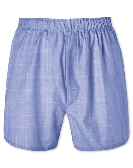 Blue prince of Wales woven boxers