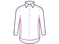 Formal shirt classic fit illustration