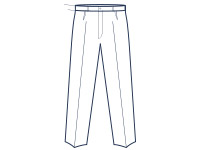 Classic fit single pleat trouser illustration