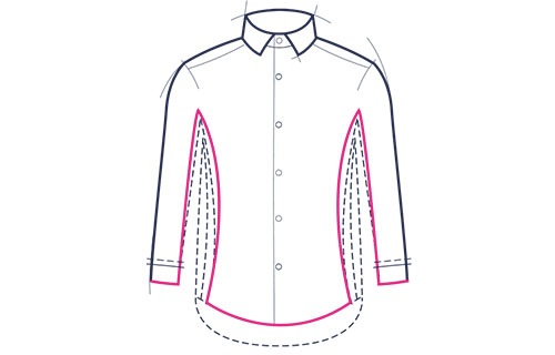 Formal shirt super slim fit illustration