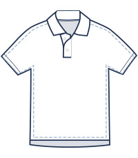 Classic fit polo illustration