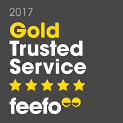 Feefo Gold Trusted Service 2017 winner logo