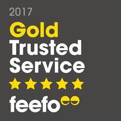 Feefo Gold Trusted Service 2017 winner logo