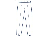 Extra slim fit flat front trousers illustration