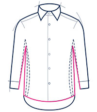 Classic fit shirt illustration