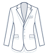 Slim suit fit illustration