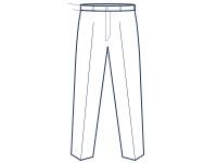 Slim Fit Hose ohne Bundfalte Abbildung