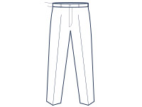 Slim fit flat trousers illustration