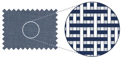 Sharkskin weave illustration