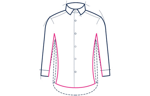 Formal shirt extra slim fit illustration