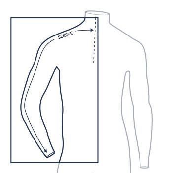 Sleeve measure illustration