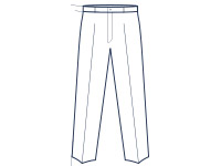 Classic fit flat trousers illustration