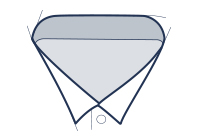 Formal shirt wing collar illustration
